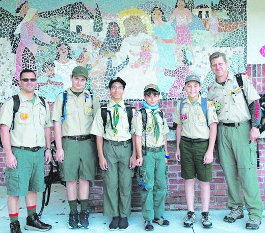 Local scouts take part in Ten Commandments Hike