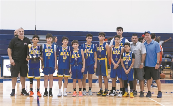 OLL basketball teams celebrate undefeated seasons