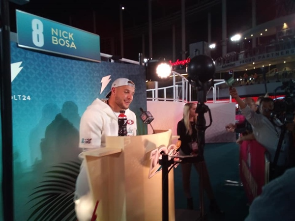 South Florida's Nick Bosa shines at Super Bowl