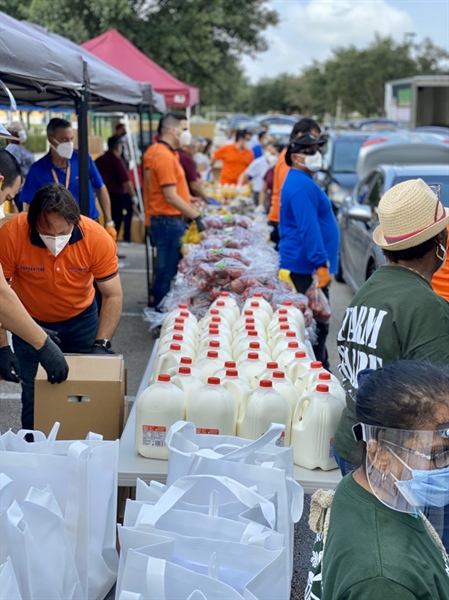 Second hunger relief event at Royal Oaks Park on Friday morning