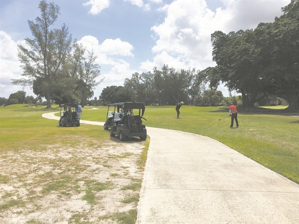 Town reopens parks; Shula's Golf Course draws 100 players