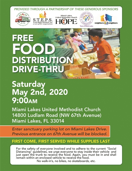 Hunger relief event Saturday in Miami Lakes