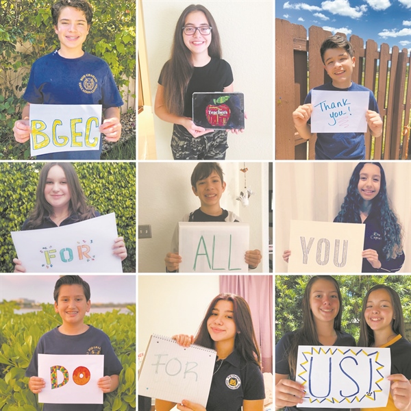 BGEC students salute educators during Teacher Appreciation Week