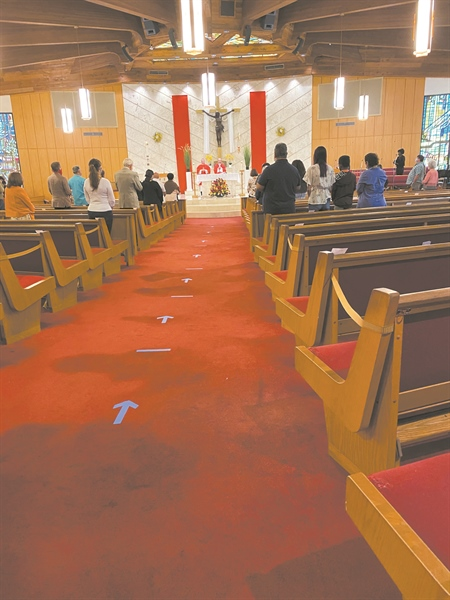 Masses resume at Our Lady of the Lakes Catholic Church