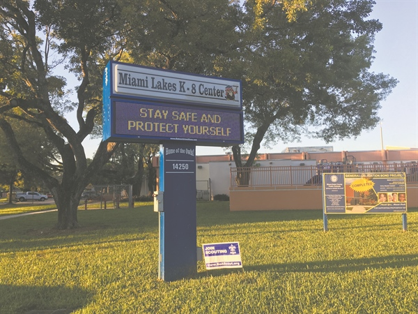 Two Miami Lakes K-8 Center students test positive for coronavirus
