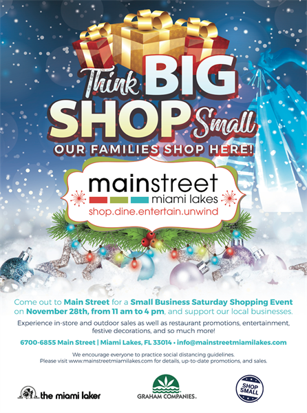 'Think BIG, SHOP Small' coming to Main Street on Nov. 28