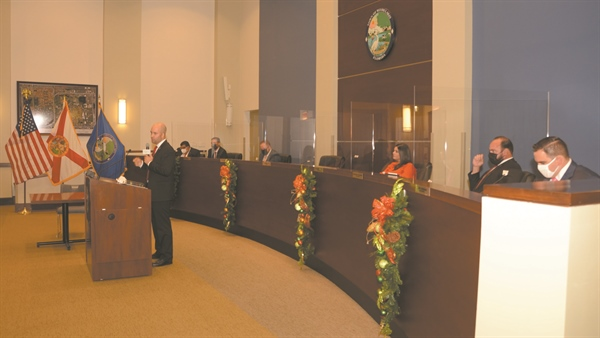 Swearing-in ceremony for Town Council -- Collazo is Vice Mayor
